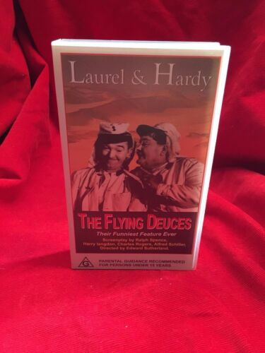 The Flying Deuces VHS Video Tape Laurel and Hardy CDV International