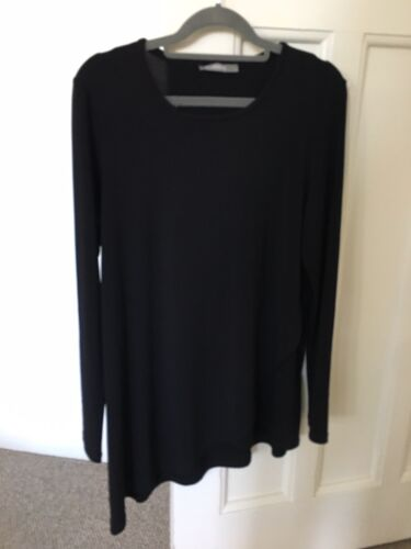 FEATHERS Women's Black Asymmetrical Tunic Small New Without Tags
