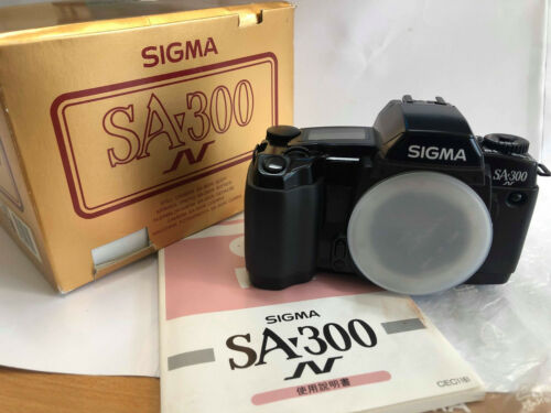 Rare Sigma SA 300n 35mm Film Camera Original Box + Manual - Excellent Condtion