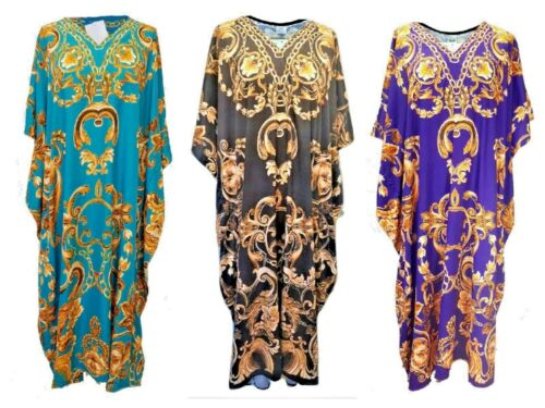 Free size Kaftan Beach cover up fits size 14,16,18,20,22,24