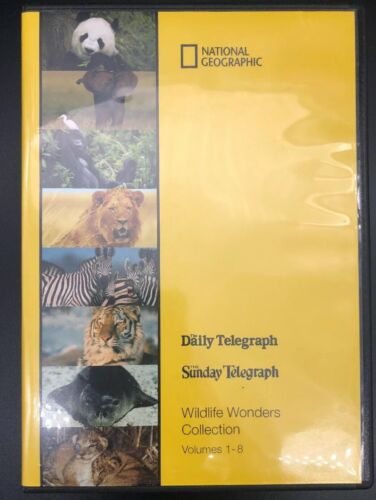 National Geographic WildLife Wonders Collection Volumes 1-8 Exc Cond FREE POST