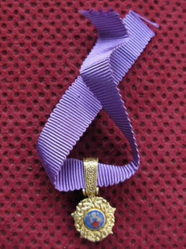 YUGOSLAVIA - MINIATURE - ORDER OF THE YUGOSLAV STAR WITH GOLDEN WREATH - DOUBLEMedals, Pins & Ribbons - 104024