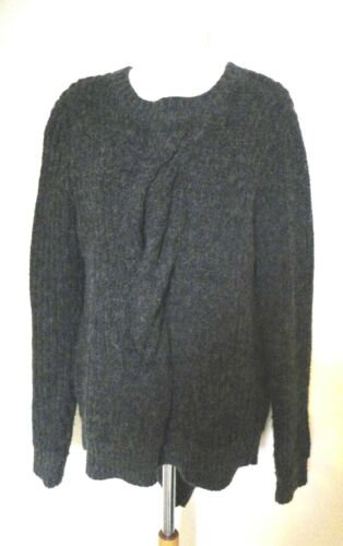 2ND DAY Day Birger et Mikkelsen Grey Chunky Twist Front Jumper Sweater S 8-10