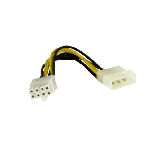 Astrotek Molex Cable 20cm 4 Pin to 8 Pin ATX EPS 12V Motherboard Power Supply AU