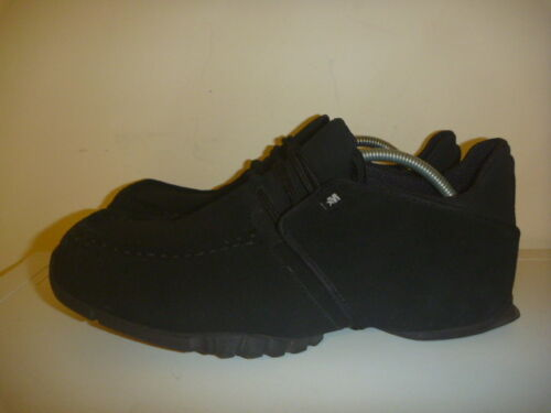 MECCA SIZE UK 10 EUR 44.5 NAVY BLUE SUEDE SHOES MENS LEATHER HARDLY USED