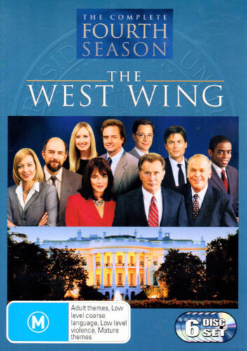 The West Wing 'The Complete Fourth 4 Season - 6 DVD Disc Set - New Sealed