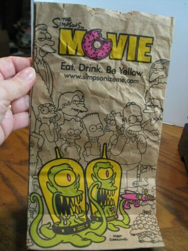 Burger King - The Simpsons Movie -  Brown Paper Bag #6 size