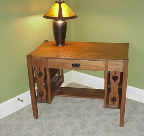 Antique Mission Style Oak Desk Quarter Sawn Library Table *OHIO pick up only*
