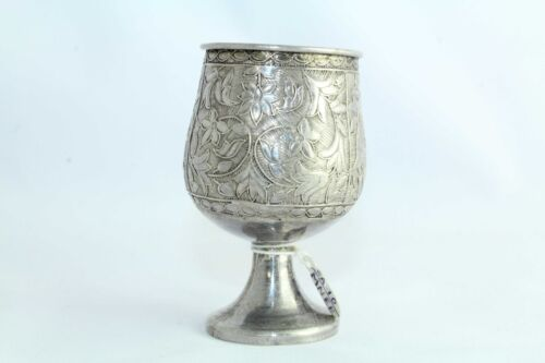 Antique Traditional Handmade Design Alloyed SILVER Pack Measure 60ML, Glass