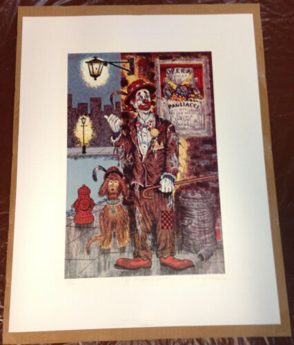 """GEORGE CRIONAS """"Off To The Opera"""" Clown Signed Numbered Limited Edition 132/500"""