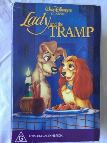 Disney Lady And The Tramp VHS Video Cassette Disney Black Diamond Edition Clam