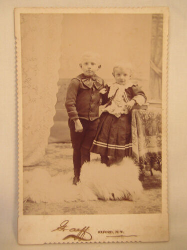 Antique Cabinet Card Photo Oxford New York NY