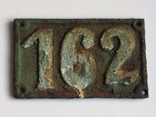 Vintage 1900's Cast Iron Sign House Number 162