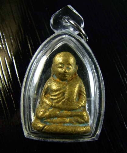 Old Amulet For Lucky Money LP NGERN Real Thai Buddha Magical Talisman Pendant