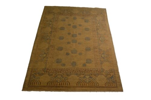 """Crafters&Weavers Oriental rug Chobi Vegetables Dyes size 4' 1""""  x 6' 0""""  # 3642"""