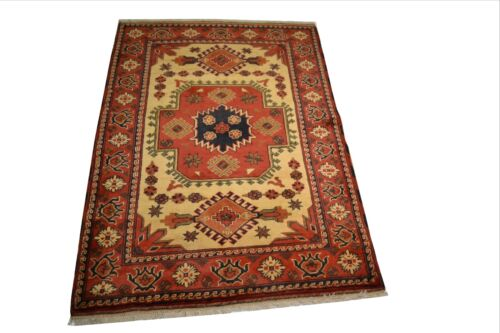 """Crafters&Weavers Oriental rug Tribal Vegetables Dyes size 3' 5""""  x 5' 4""""  #3036"""