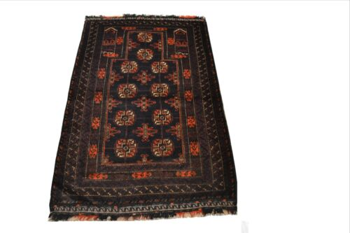 """Crafters&Weavers Oriental rug Tribal Vegetables Dyes size  2 '10""""x 4' 6""""  #3147"""