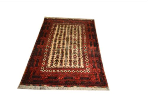 """Crafters&Weavers Oriental rug Tribal Vegetables Dyes size  3' 10"""" X 6' 2"""" # 3099"""