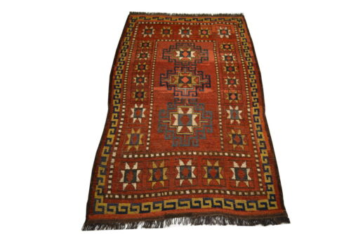 """Crafters&Weavers Oriental rug Tribal Vegetables Dyes size 3' 0""""  x 5' 0""""  #1901"""