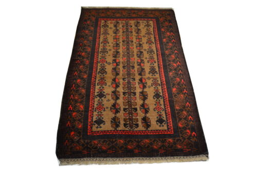 """Crafters&Weavers Oriental rug Tribal Vegetables Dyes size 3' 0""""  x 5' 0""""  #1492"""