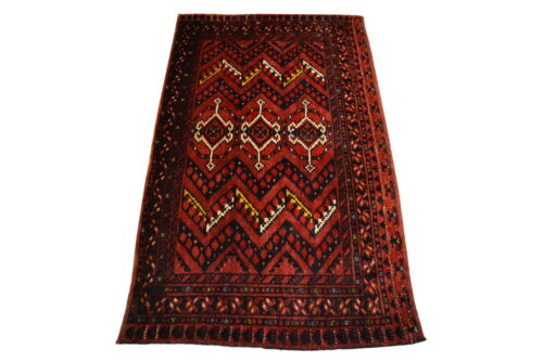 """Crafters&Weavers Oriental rug Tribal Vegetables Dyes size 2' 9""""  x 5' 0""""  #1113"""