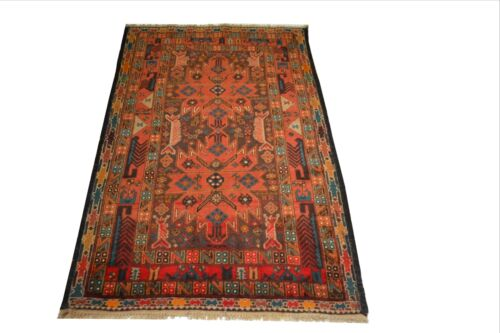 """Crafters&Weavers Oriental rug Tribal Vegetables Dyes size  3 '1""""  x 4'10""""  #3146"""