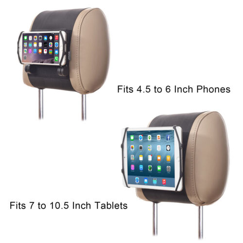 TFY Universal Car Headrest Mount Holder Silicon Holding Net for Phone & Tablet