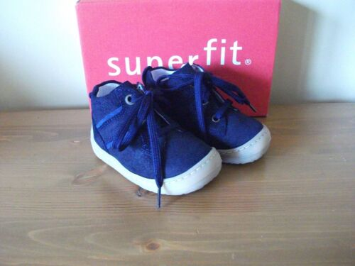 Boys SUPERFIT 342 Navy Blue SUEDE Lace ANKLE BOOT Size UK 3 EUR 18 NEW!