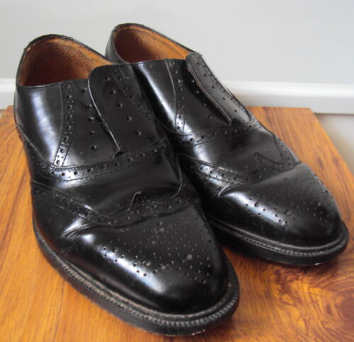 Barratts - Black all leather brogues - lace up shoes ~ size 8 eu 42