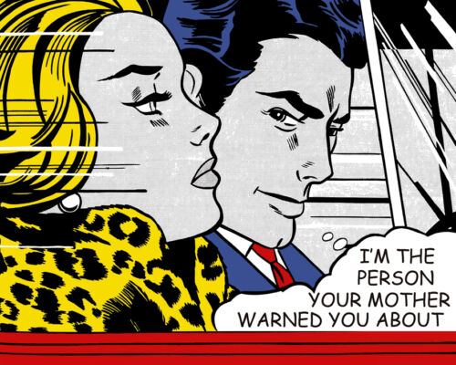 Roy Lichtenstein Style I'm The Person Your Mother Canvas Print 16 x 20