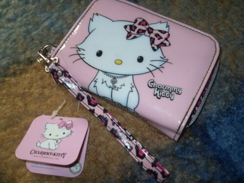 cartera leopardo rosa collar brillantitos charmmy hello kitty nuevo y etiquetado