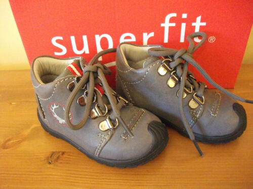 Boys SUPERFIT 430 Grey LEATHER Lace BOOT UK 4 Eur 20 NEW!