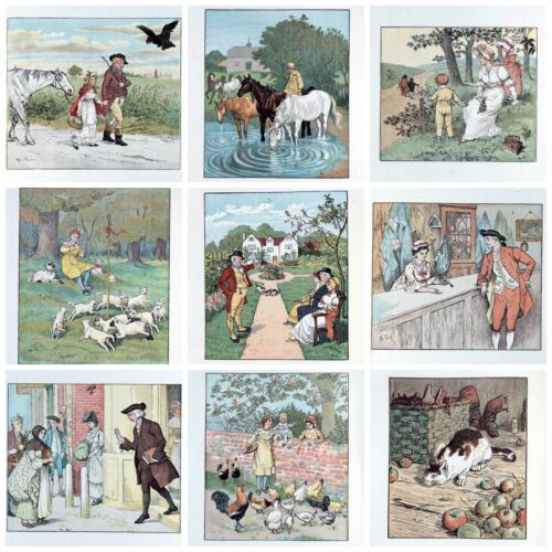 Caldecott Childrens Art posters wall hangings 10x8 pack of 9