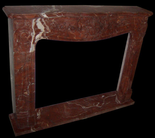 CAMINO IN MARMO ROSSO NO PIETRA CAMINETTO REGENCE MARBLE FIREPLACE
