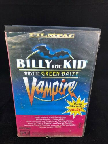 BILLY THE KID AND THE GREEN BAIZE VAMPIRE VHS (RARE)