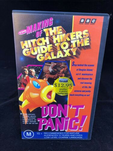 THE MAKING OF THE HITCH HIKERS GUIDE TO THE GALAXY VHS