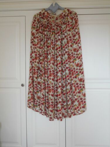 Mulberry Net A Porter Floral Orange Red Yellow 100% Silk A-Line Skirt Lined UK 8