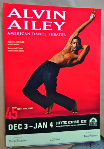 Alvin Ailey Dance Poster - 45 Forty-Five-Years, Original
