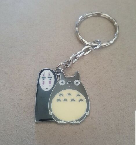 MY NEIGHBOUR TOTORO AND NO FACE ENAMEL METAL KEYCHAIN JAPANESE ANIME MOVIE 43