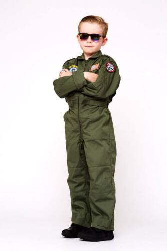 BOYS RAF FLIGHT SUIT RED ARROWS BRITISH ARMY PILOT COVERALLS FANCY DRESS COSTUME