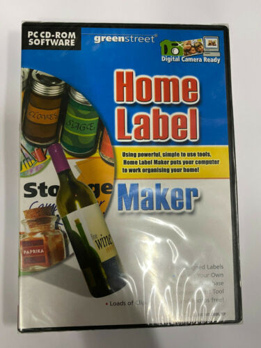 PC CD Rom Software Home Label Maker