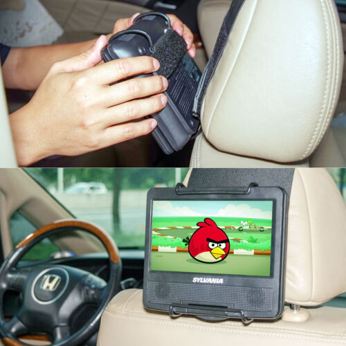 TFY Car Back Seat Holder Headrest Mount for Portable DVD Player 7 - 10 inch