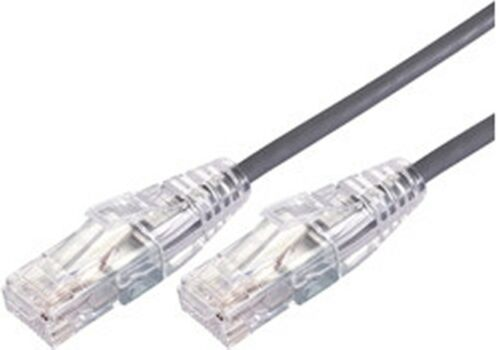 Comsol 30cm 10GbE Ultra Thin Cat6A UTP Snagless Cable LSZH Low Smoke - Grey