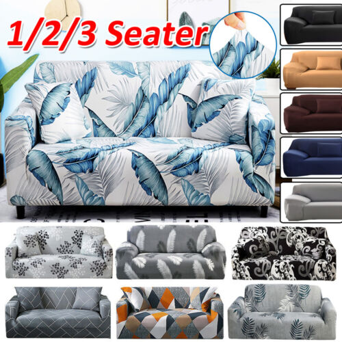 1 2 3 Seater Stretch Sofa Cover Couch Lounge Recliner Chair Slipcover Protector <br/> Top Quality✔6 Colors✔SAVE UP TO 12% WHEN YOU BUY MORE