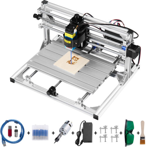 3 Axis CNC Router Kit 3018 With Laser Engraver 500MW Engraving Machine USB Port <br/> ♪♪Durable Material ♪♪Simple Assembly ♪♪Wide Application