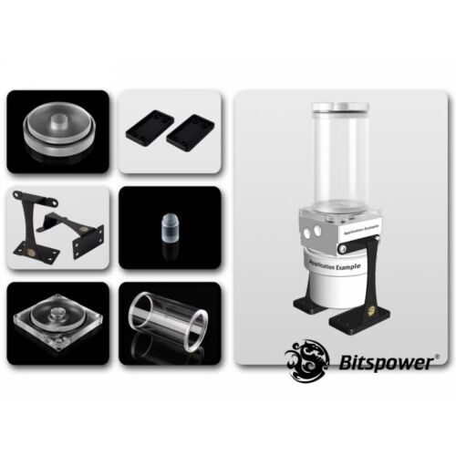 Bitspower Dual/Single D5 100mm Upgrade Kit - Clear/Clear