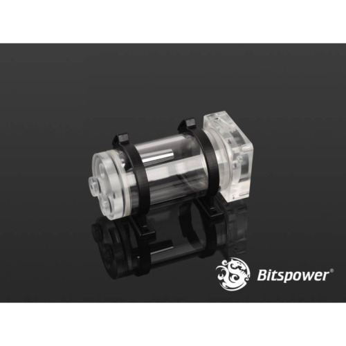Bitspower DDC Pump Top With Reservoir Kit (100mm) - Clear/Clear