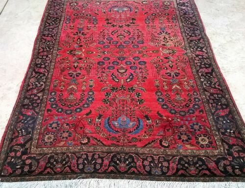 REAL ANTIQUE GENUINE PERSHIAN  MOHAGERAN RUG ONE OF A KIND
