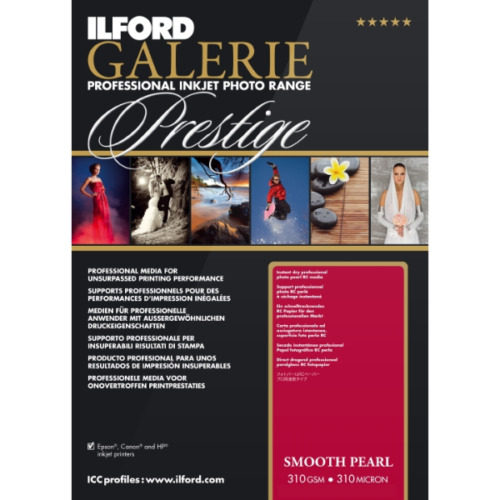 "ILFORD Galerie Prestige Smooth Pearl 310 gsm 5""X7"" 100 Sheets"