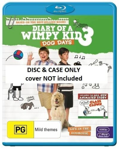 Diary Of A Wimpy Kid:Dog Days (Blu-ray, 2013) // DISC ONLY // NO COVER